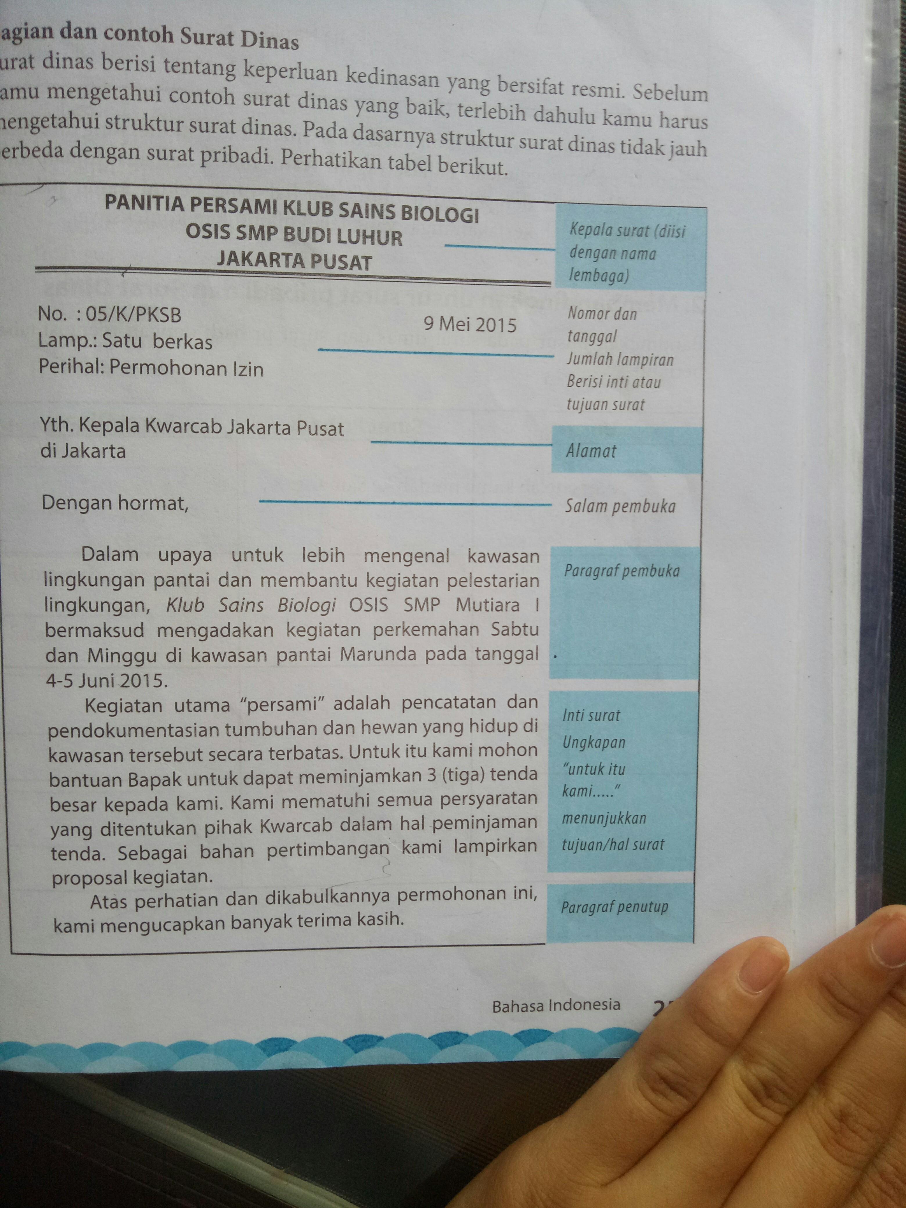 Bimbel Masuk Kedinasan Jogja: Contoh Surat Kedinasan Sekolah