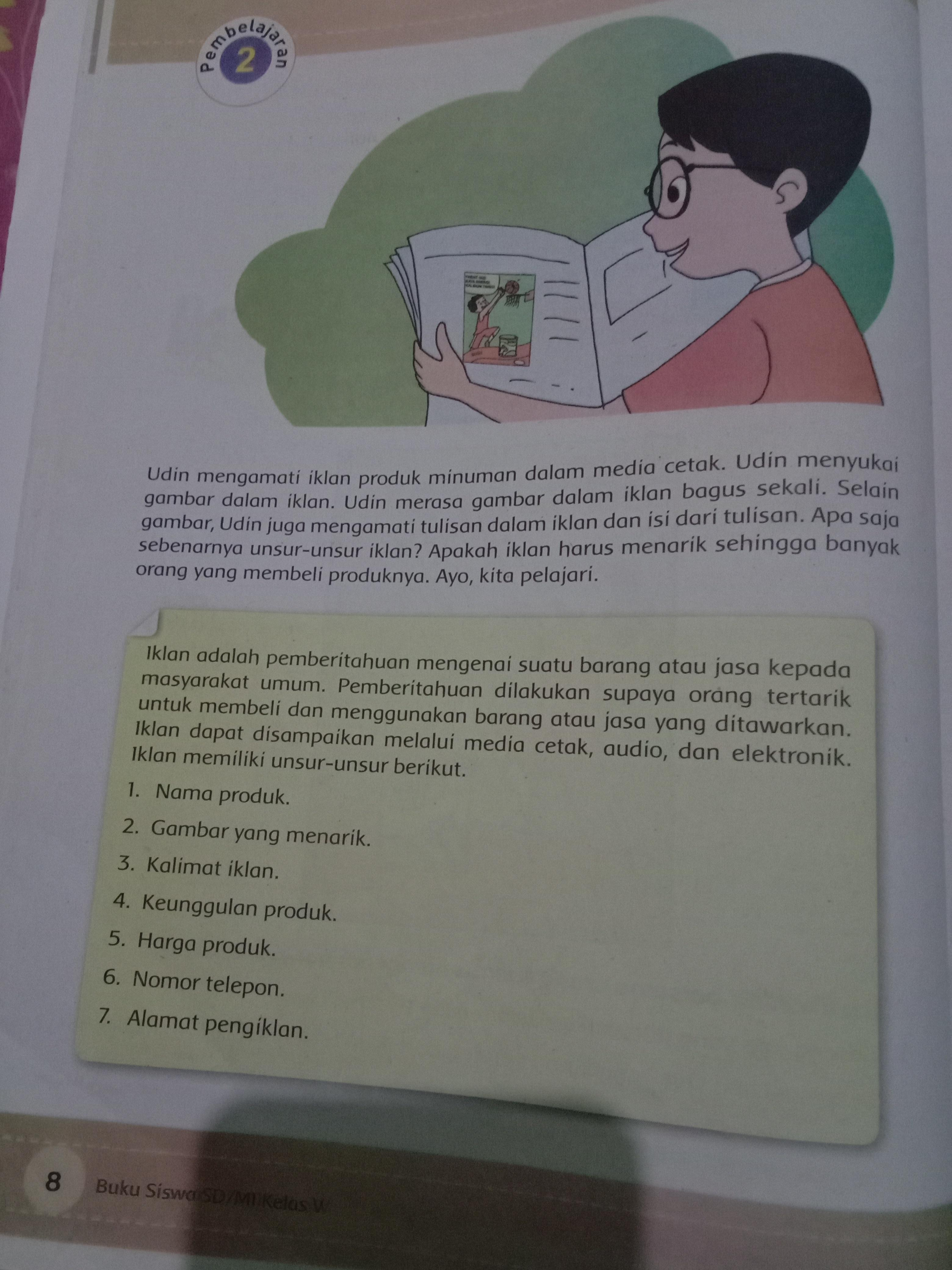 Amatilah gambar pada halaman 20. Apakah iklan tersebut memenuhi ...