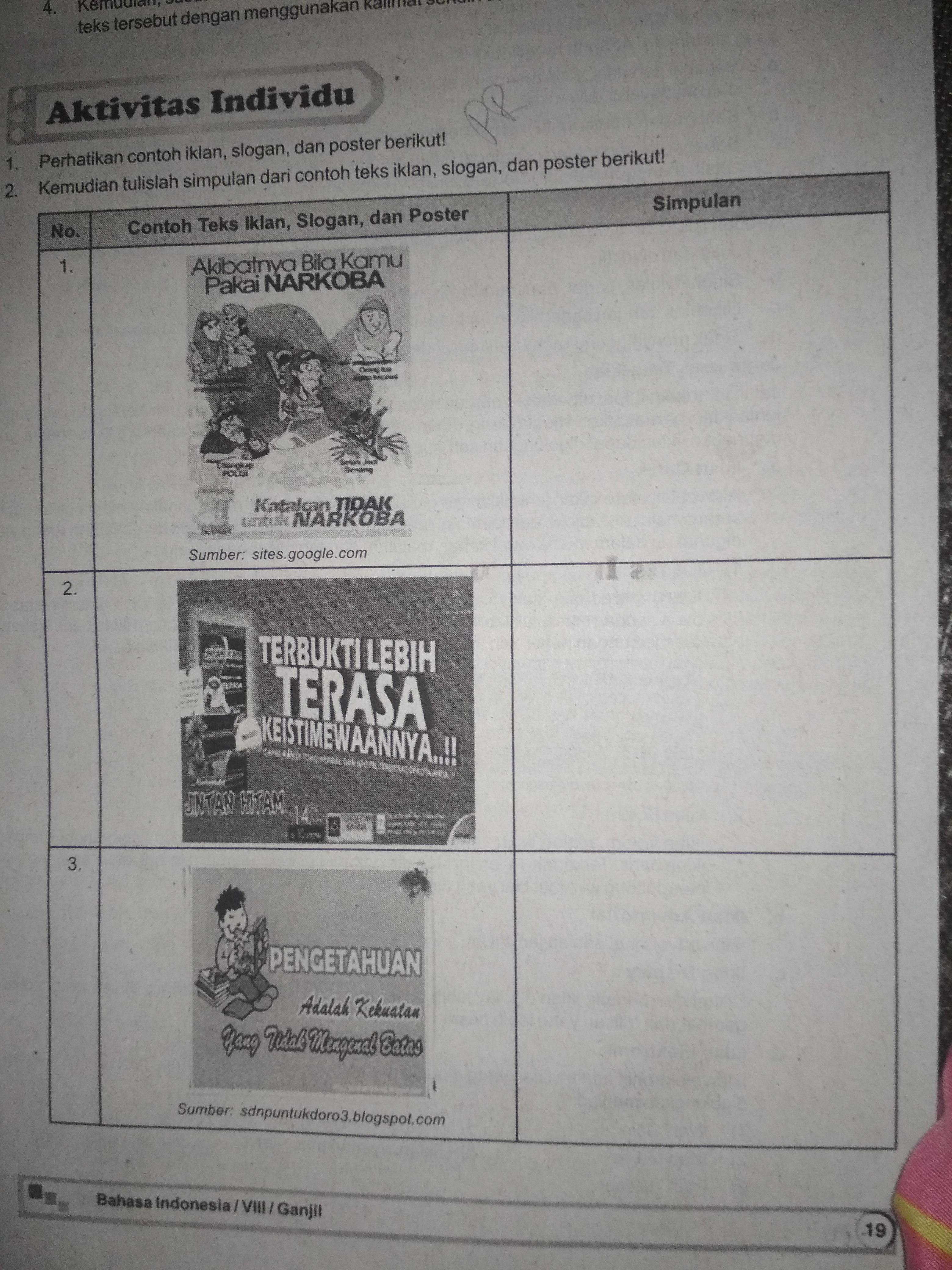 Materi Pelajaran 9 Contoh Gambar Iklan Slogan Dan Poster Serta
