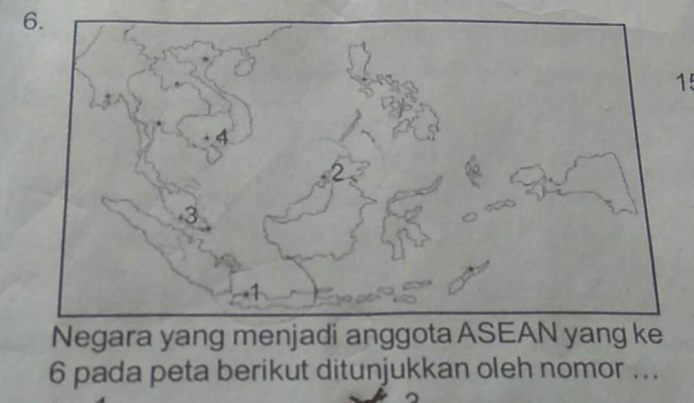 Negara Yg Menjadi Anggota Asean 6 Peta Berikut Unduh Jpg