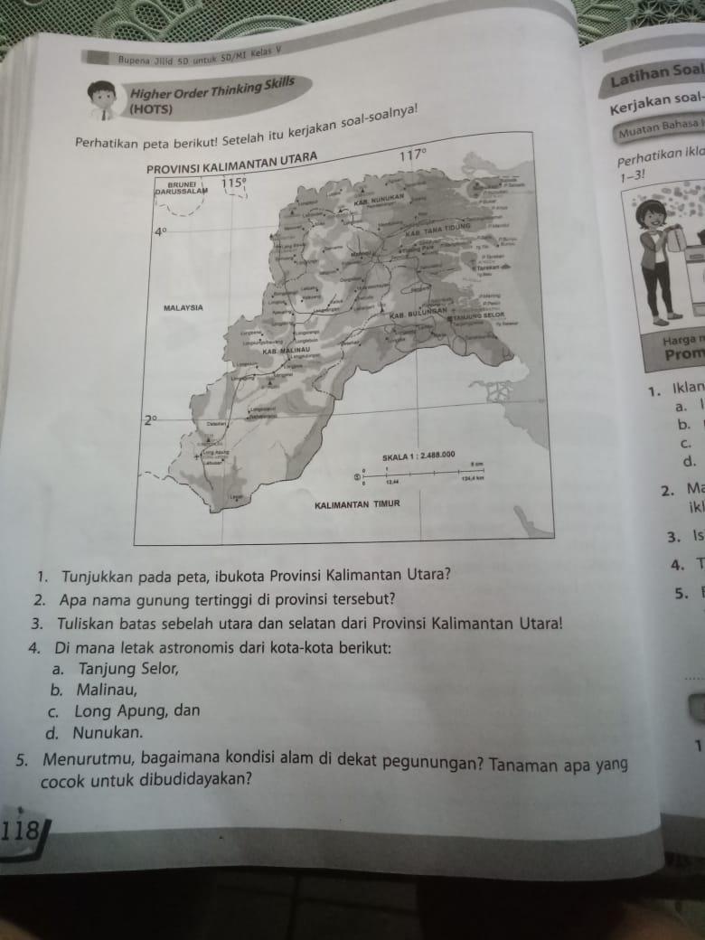 Tolong Jawab Y 1 Tunjukan Pada Peta Ibukota Provinsi Kalimantan Utara 2 Apa Nama Gunung Brainly Co Id