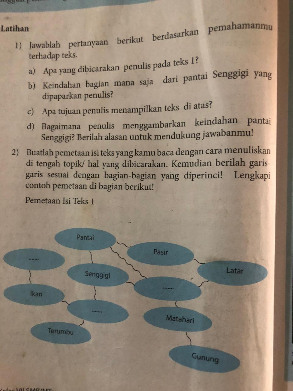 Pr Halaman 14 Bahasa Indonesia Kelas 7 Semester 1 Tolong Dijawab Ya Karna Mau Di Kumpul Brainly Co Id