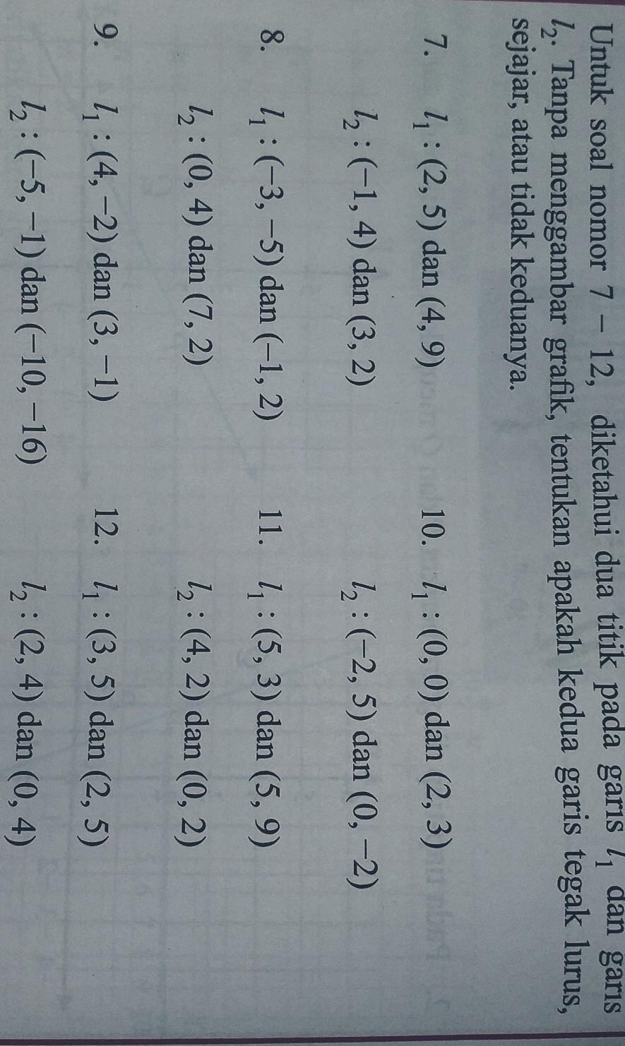 Matematika Kls 8 Uji Kompetensi 4 3 Hal 158 No 7 12tolong Bantu Jawab Yaa Brainly Co Id