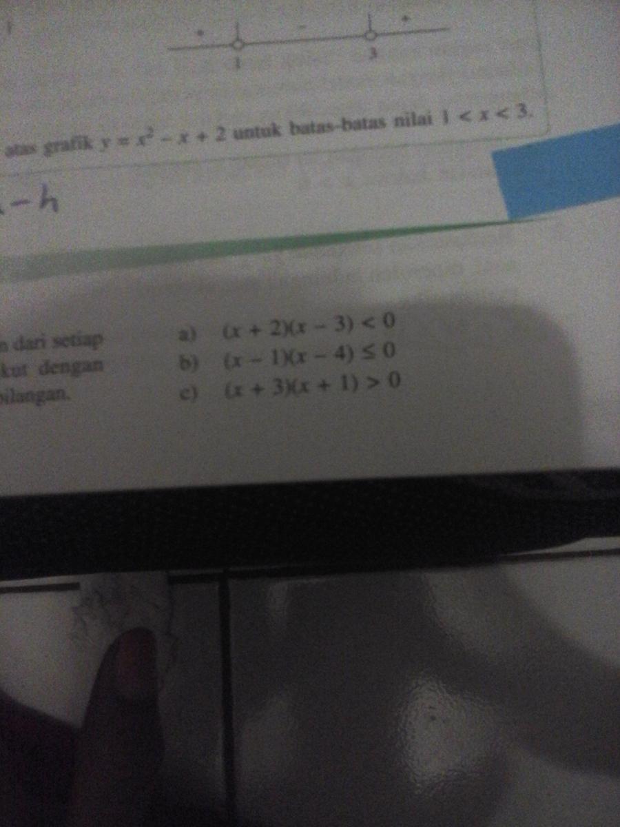 Carilah himpunan penyelesaian dari setiap pertidaksamaan kuadrat carilah himpunan penyelesaian dari setiap pertidaksamaan kuadrat berikut dengan menggunakan diagram garis bilangantolong jawab ccuart Images