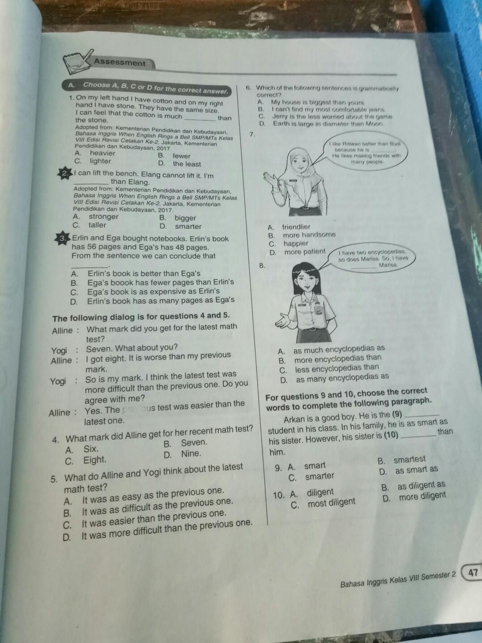 Lks B Inggris Kelas Delapan Semester 2 Gal 47 Part 1 Brainly Co Id