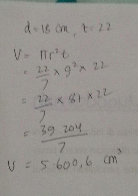Rumus Volume Tabung Diameter - Matematika Dasar