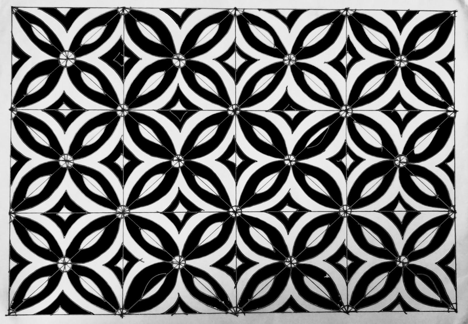 Contoh Gambar Batik Yg Mudah Di Gambar Brainlycoid