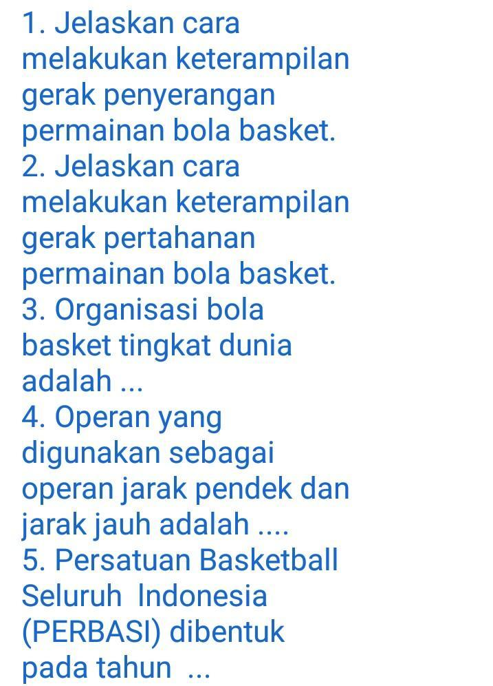 Tentang Olahraga Basket Brainly Co Id