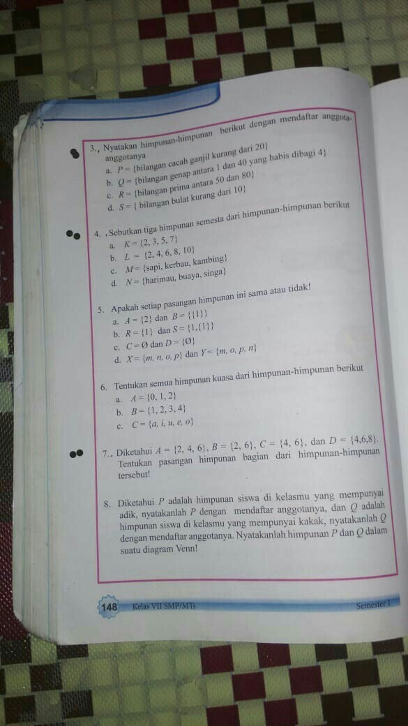 Matematika Kelas 7 Halaman 148 Tolong Dong Brainly Co Id