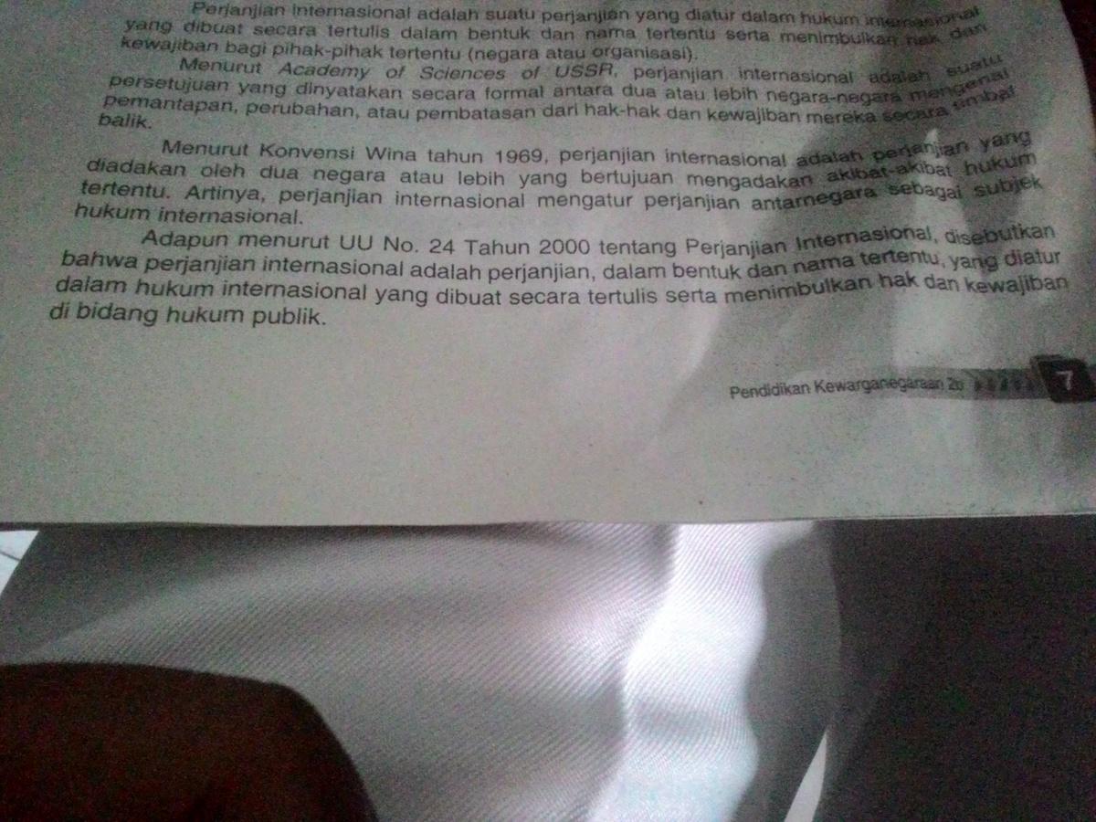 pengertian perjanjian internasional menurut uu NO. 24 ...