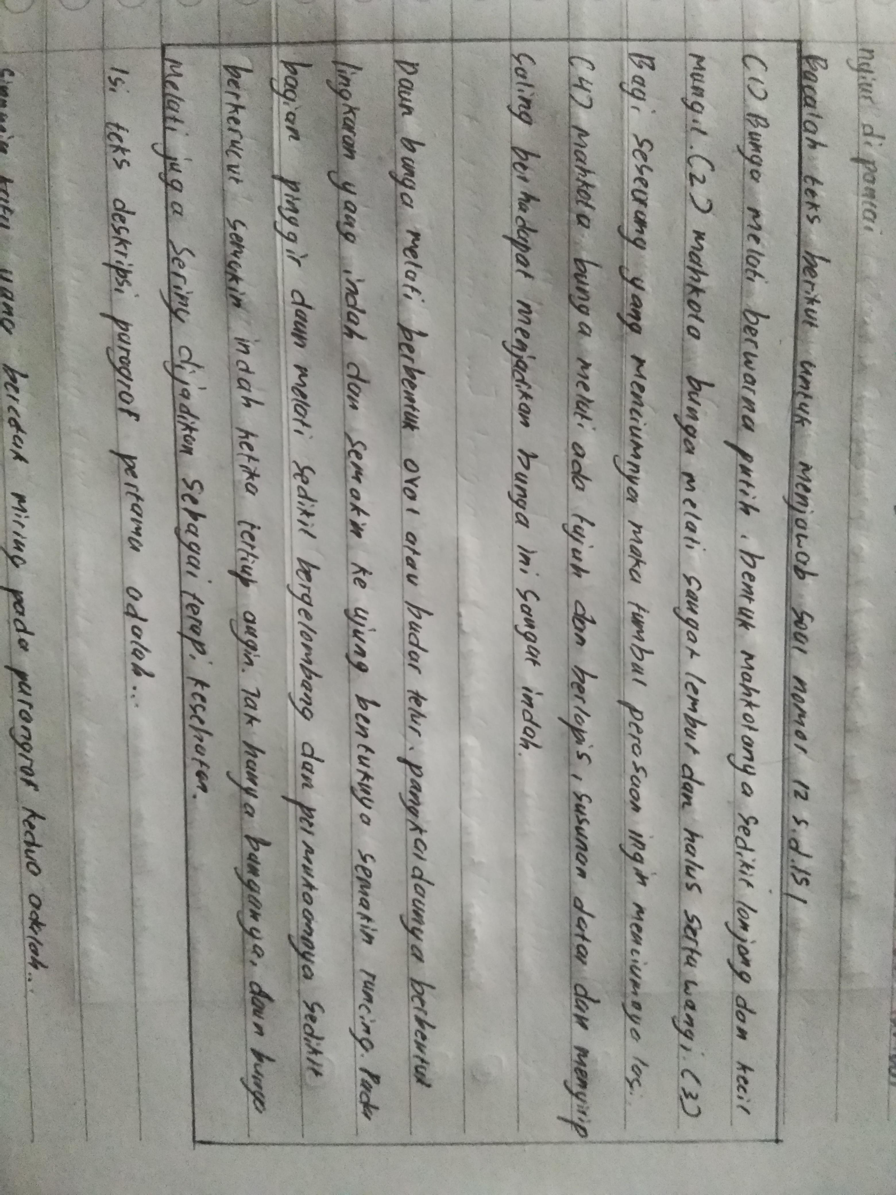 Isi Teks Deskripsi Paragraf Pertama Adalah A Jumlah Mahkota Bunga Melati B Bentuk Dan Struktur Brainly Co Id
