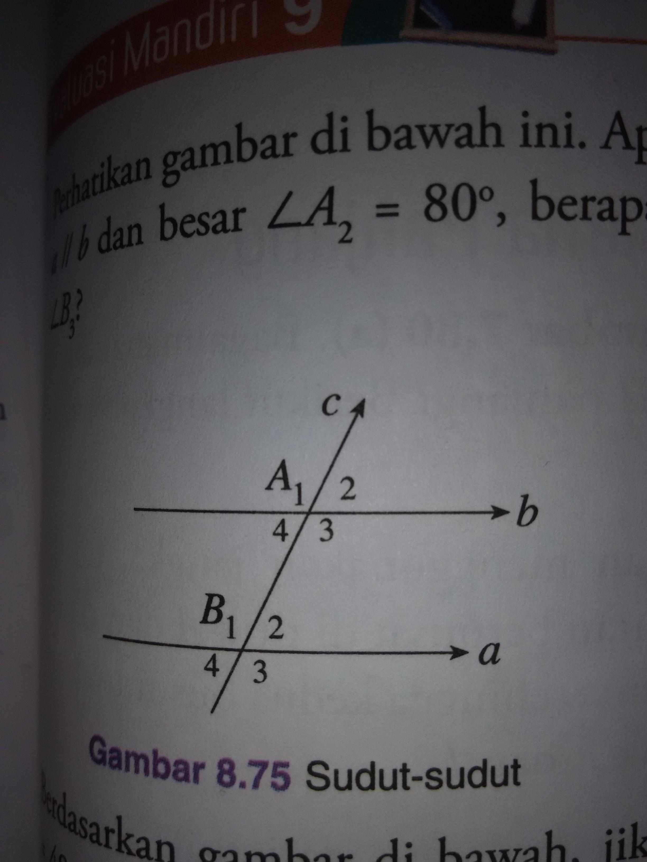 perhatikan gambar di bawah ini.apabila garis a//b dan ...