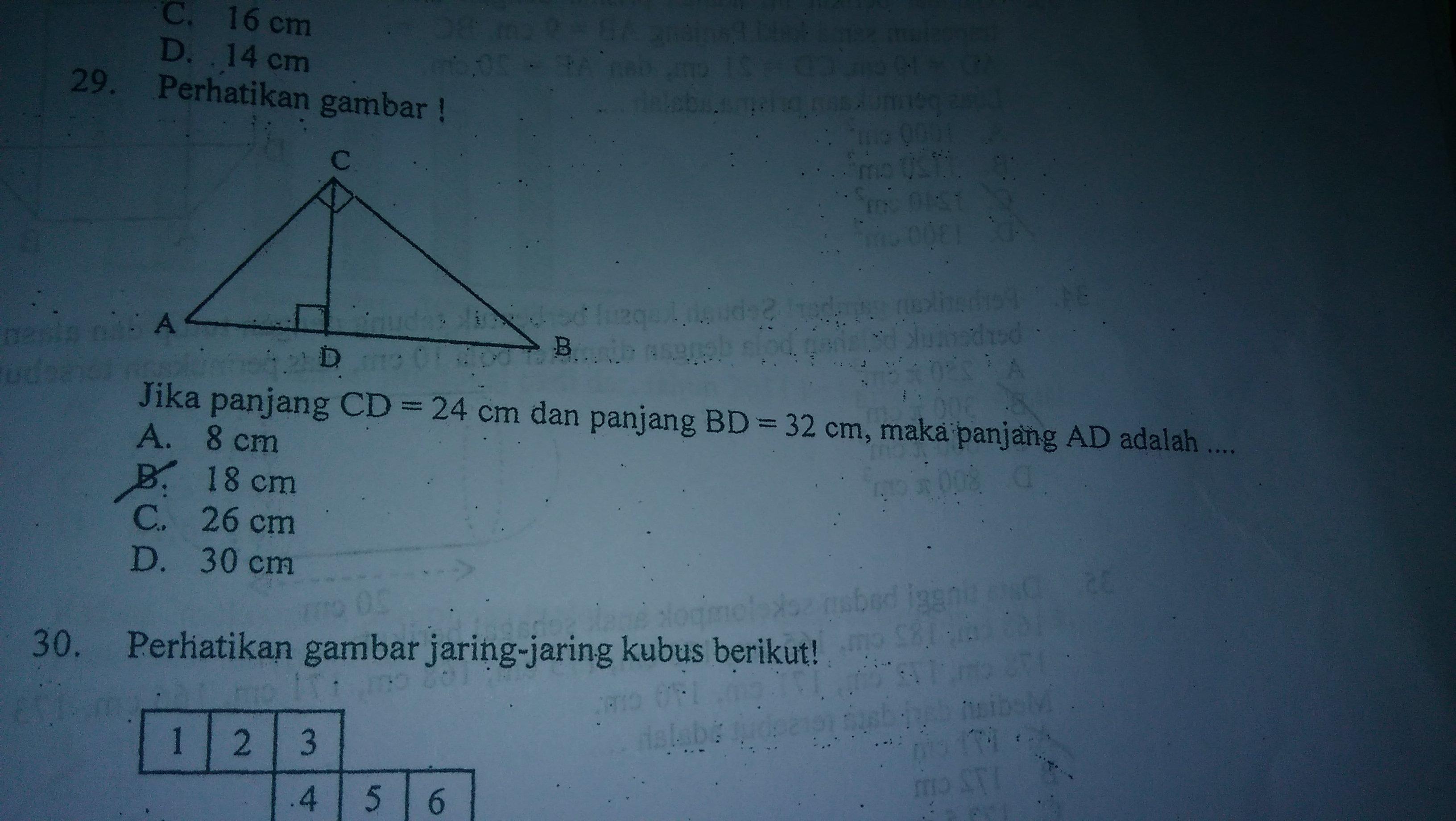 Jika panjang CD 24 cm dan panjang BD 32 cm maka panjang AB adalah it ud ada  jwbanya tp gtw caranya 93e496cb2d