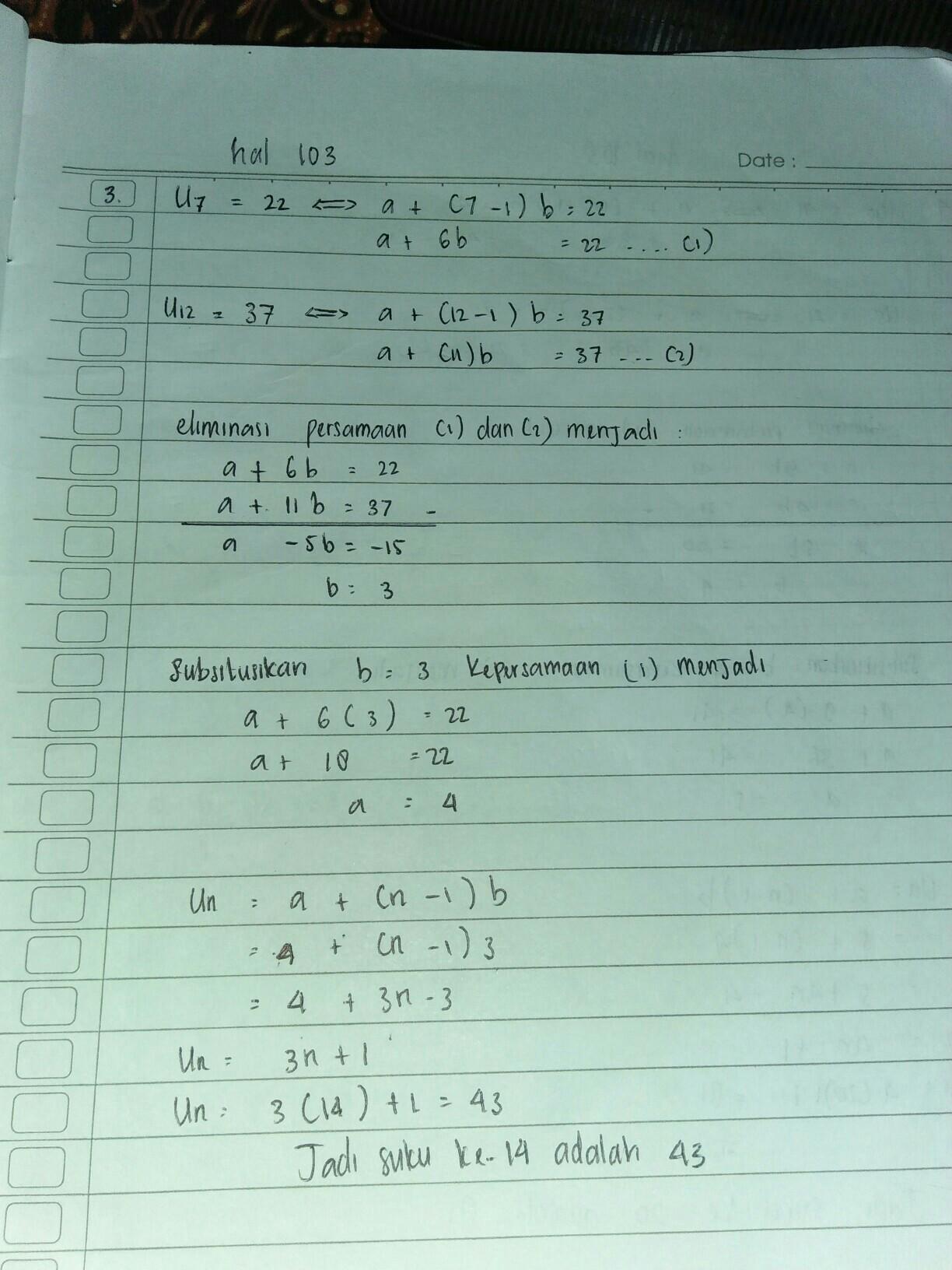 Berikan 2 Contoh Soal Deret Aritmatika Beserta Jawabannya Brainly Co Id