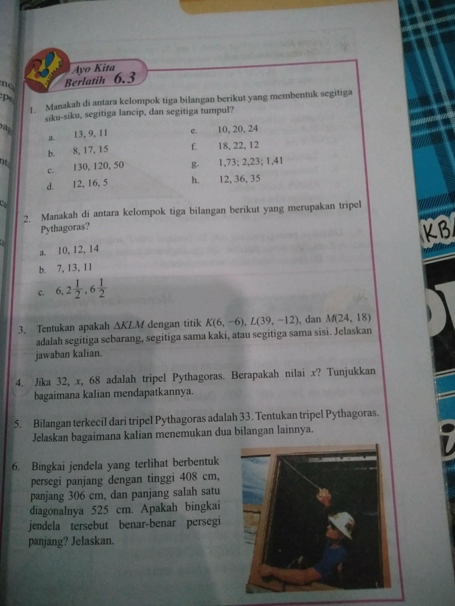 Jawaban matematika halaman 31 32 kls 8 semester 2