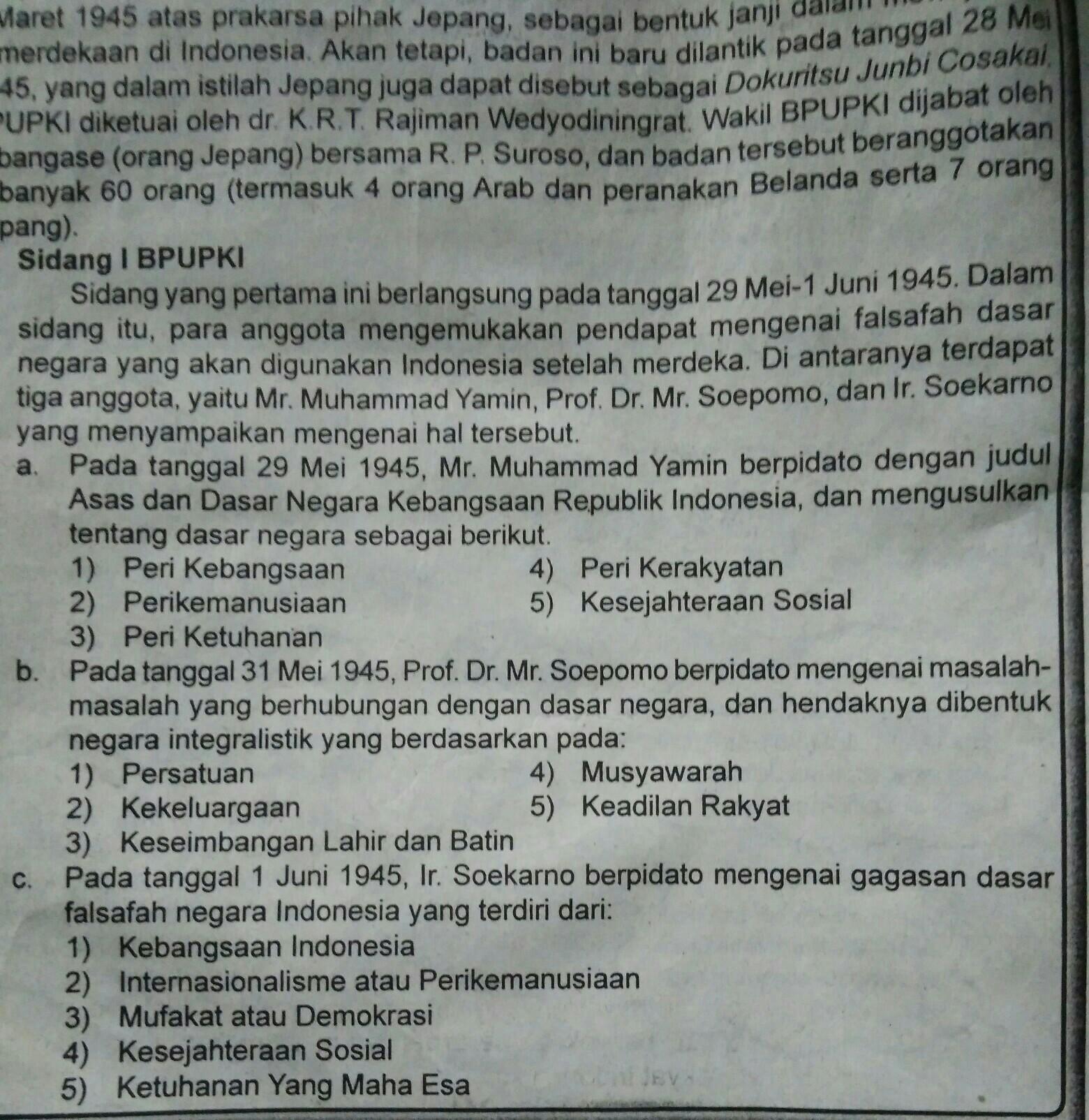Tokoh Perumus Undang Undang Dasar Negara Republik Indonesia Tahun