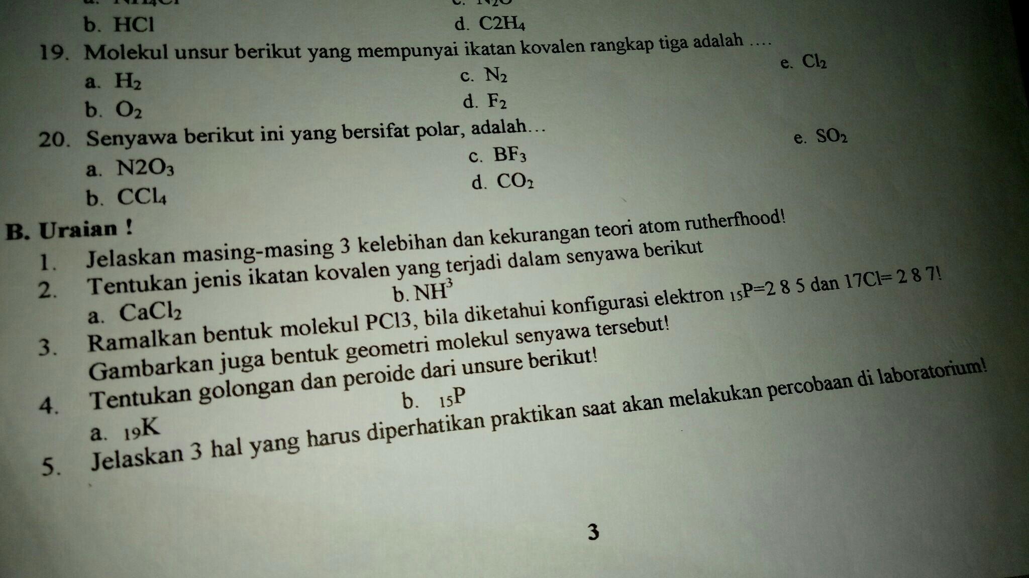Tolong Di Jawab Nomor 3 Dan 2 Ya Kak Brainly Co Id