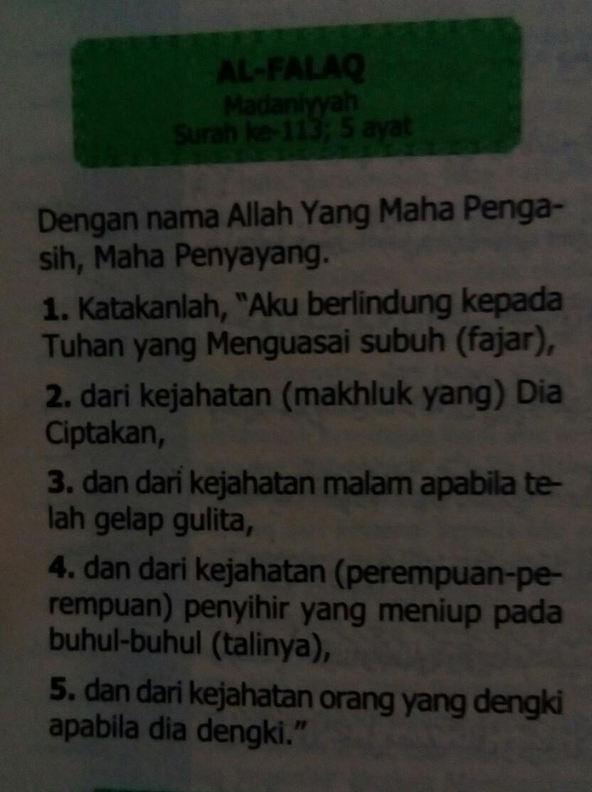 Apa Arti Surah Al Falaq Ayat 1 Sampai 5 Brainlycoid