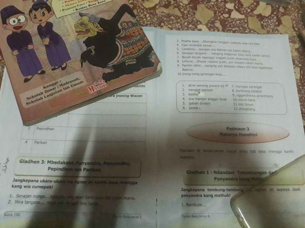 Kunci Jawaban Tantri Bahasa Jawa Kelas 5 Hal 7