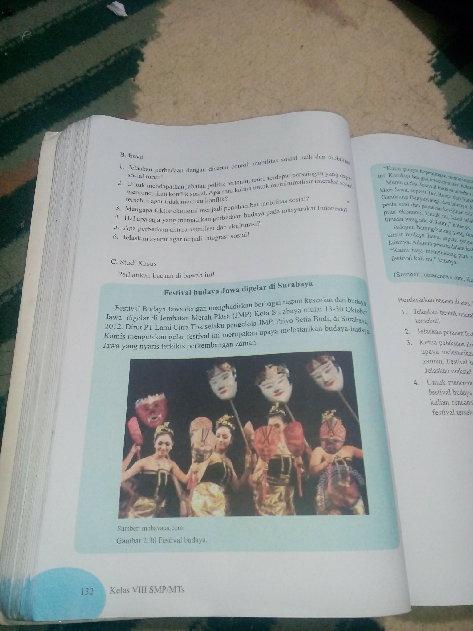 Jawaban Esai Ips Halaman 132 Kelas 8 Brainly Co Id
