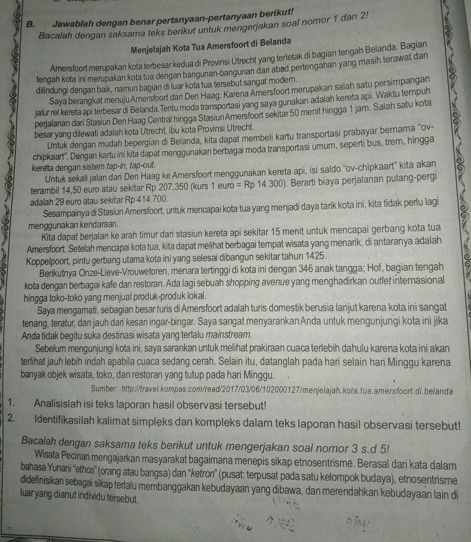 Kelas X Bahasa Indonesia Teks Laporan Hasil Observasi Brainly Co Id