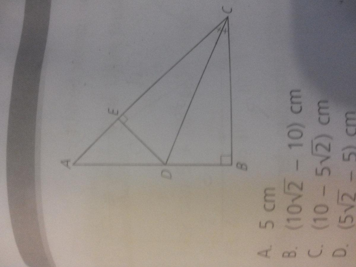 segitiga abc adalah segitiga siku siku sama kaki. jika ab=20 cm ...