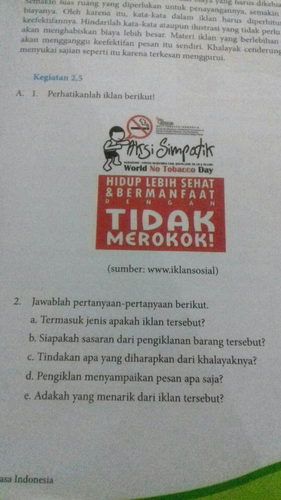 Jawaban Buku Bahasa Indonesia Kurikulum 2013 Kegiatan 2 5 Halaman 39 Kelas 8plissss Besok Di Brainly Co Id