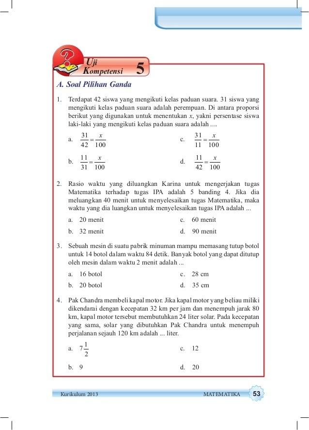 Jawaban Matematika kelas 7 semester 2 uji kompetensi 5 ...