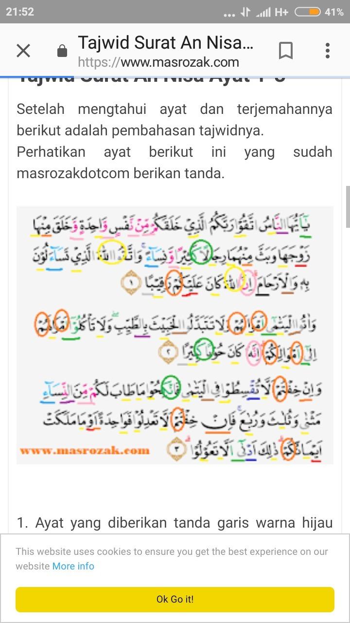 Hukum Bacaan Tahfim Dan Tarqiq Surah An Nisa Ayat 1 10 Brainly Co Id