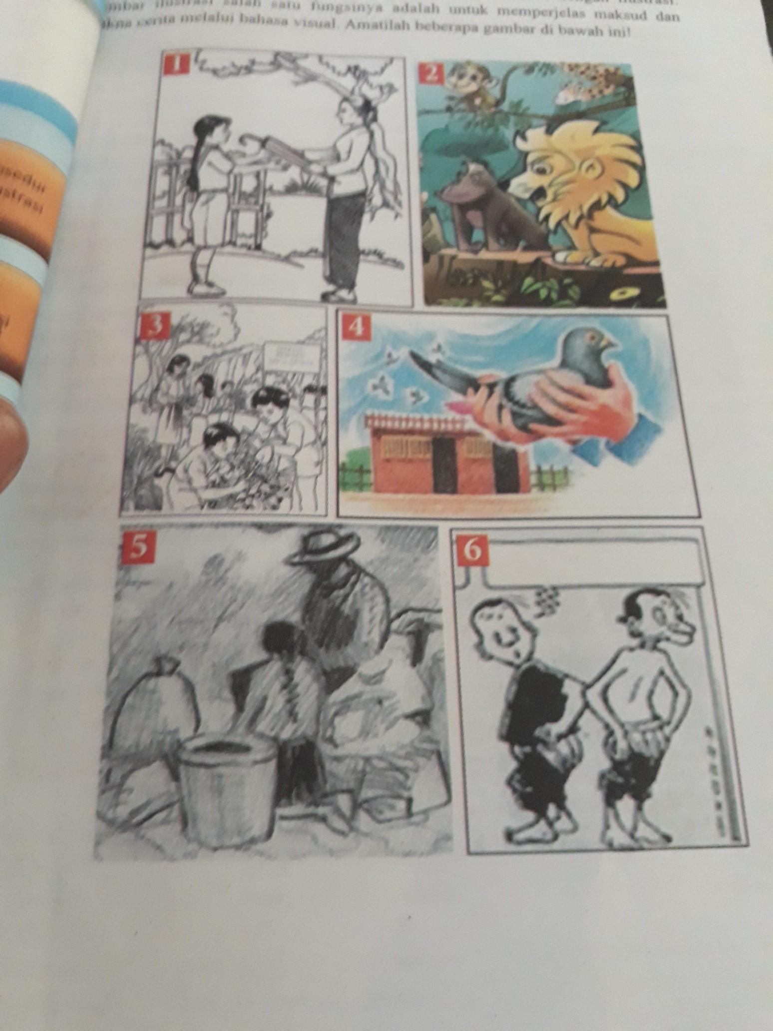 Apa Arti 5 Gambar Ilustrasi Di Atas Brainly Co Id