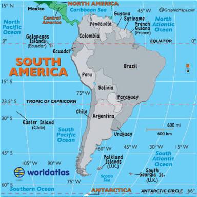 Negara amerika selatan paling luas wilayahnya adalah ...