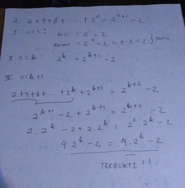 dengan induksi matematika, buktikan rumus benar untuk ...