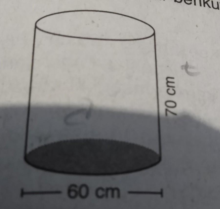 Sebuah pot terbuat dari tong bekas berbentuk seperti ...