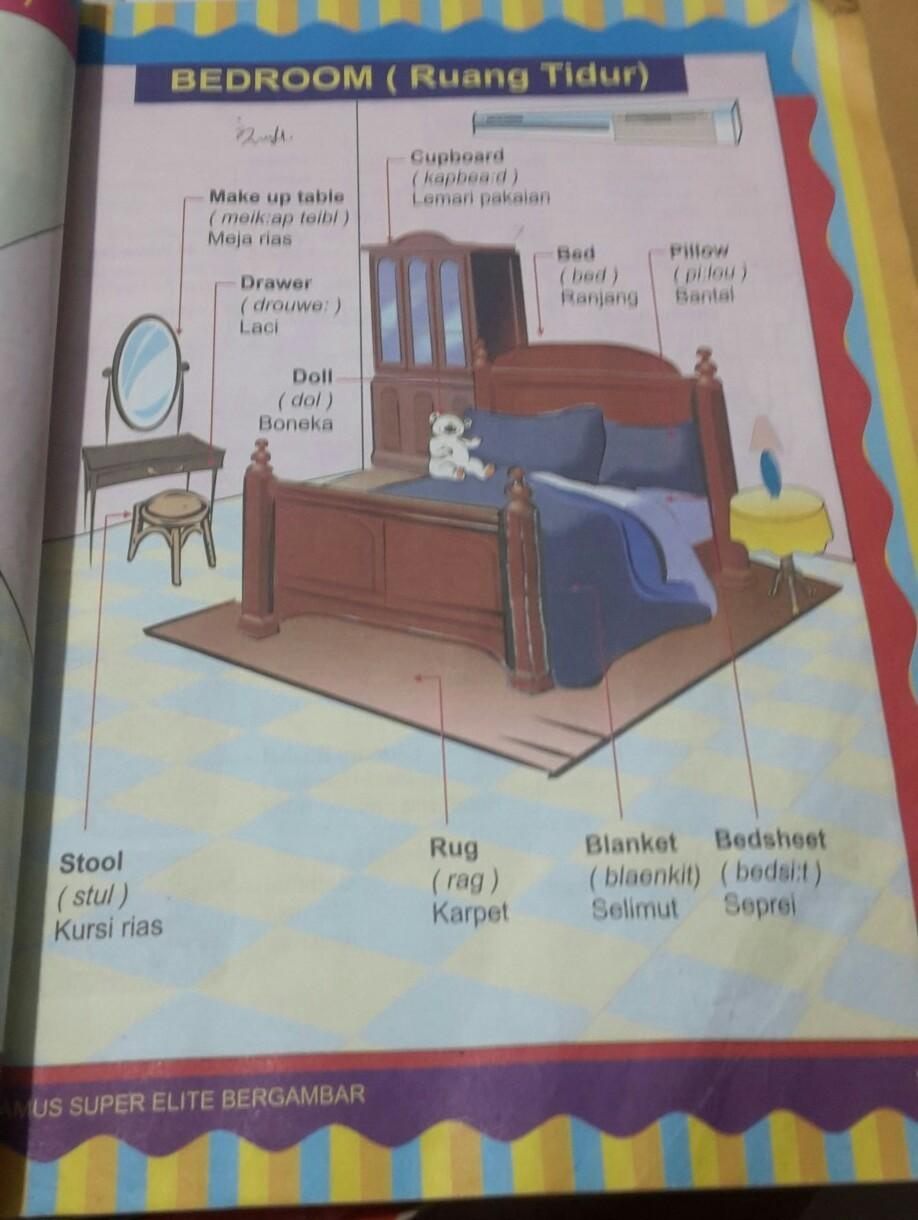10 Nama Benda Yg Ada Di Kamar Tidur Dalam B Inggris Brainly Co Id Benda di kamar tidur