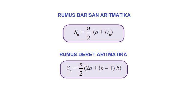 1.Berikut ini yang merupakan deret aritmatika adalah...a ...