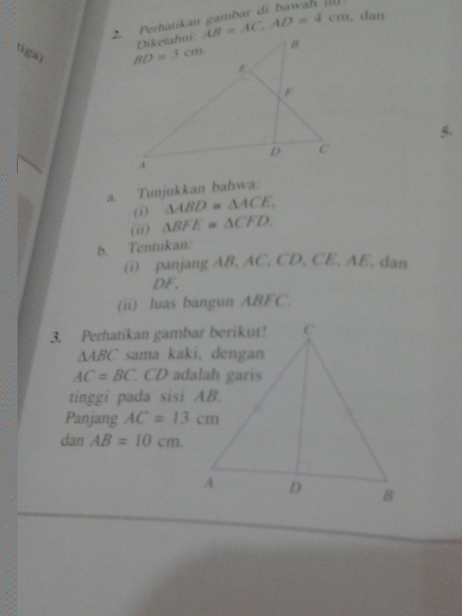 perhatikan gambar berikut! segitiga ABC sama kaki dengan ...