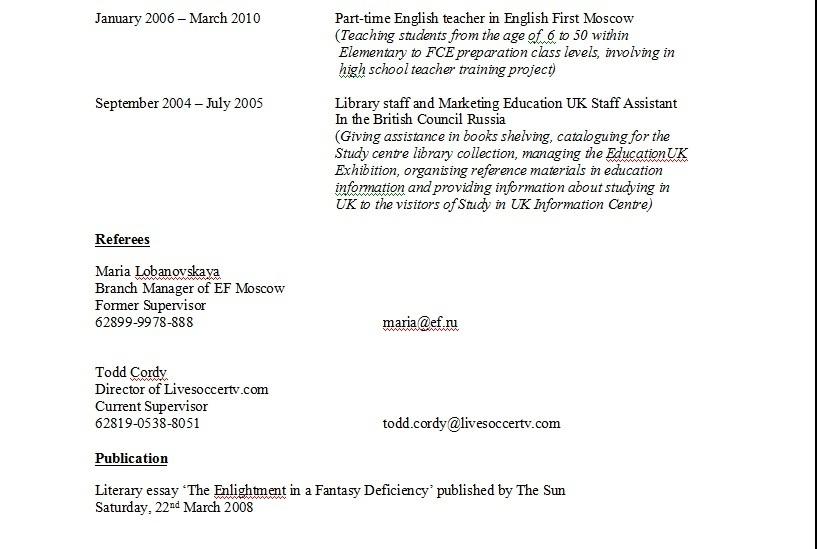 Contoh Daftar Riwayat Hidup Dalam Bahasa Inggris Brainly Co Id