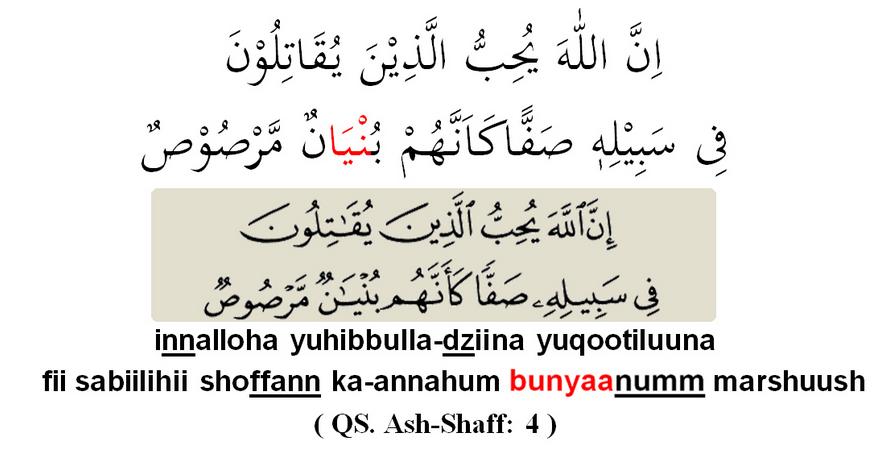 Contoh Ayat Al Qur An Yang Mengandung Semua Huruf Ijhar Brainly Co Id