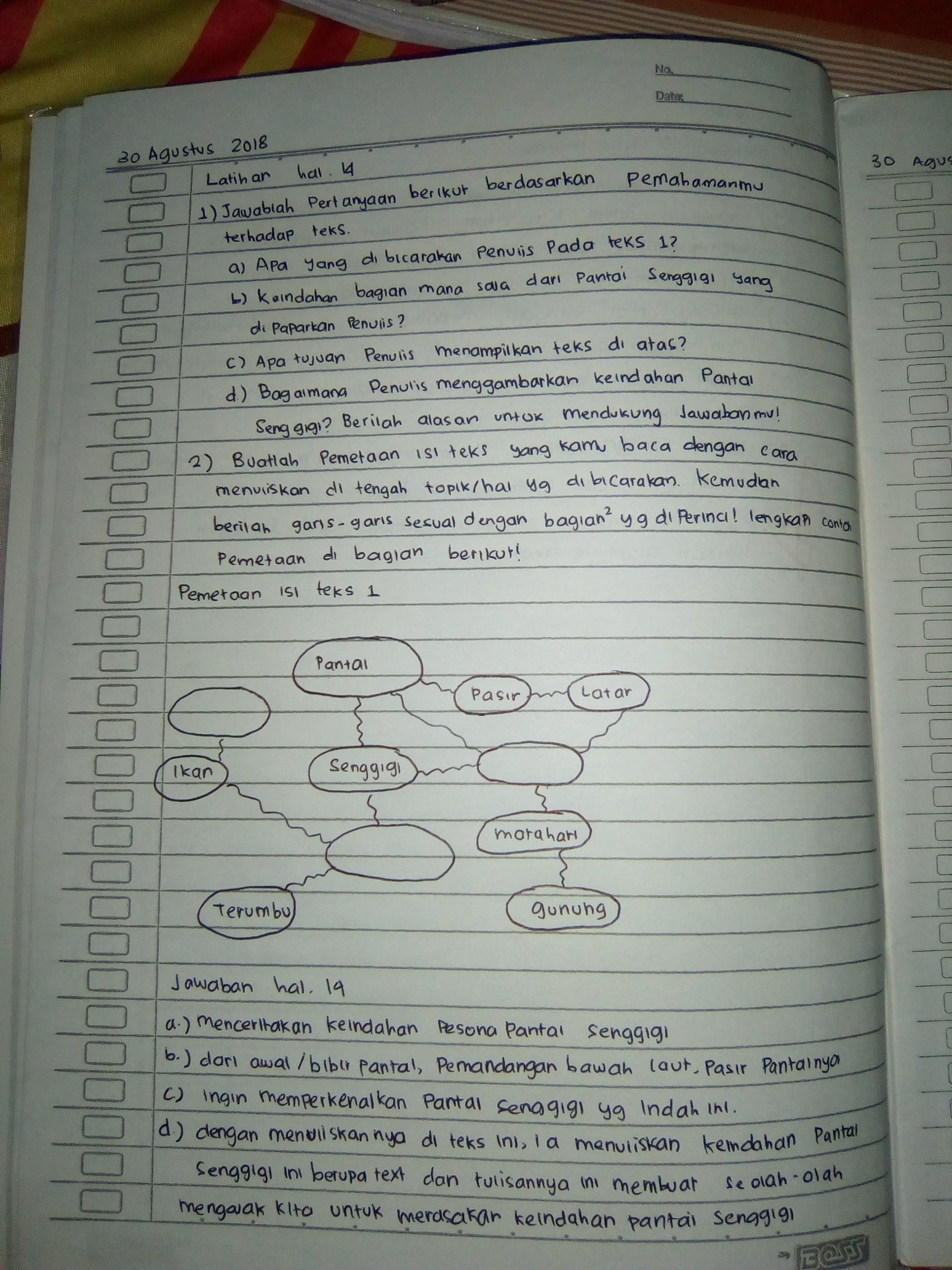 Pelajaran Bahasa Indonesia Kelas 7 Smp