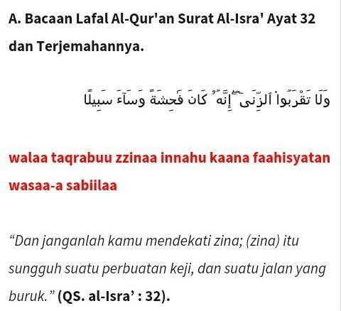 Al Isra Ayat 32 Dan Arti Nya Brainlycoid