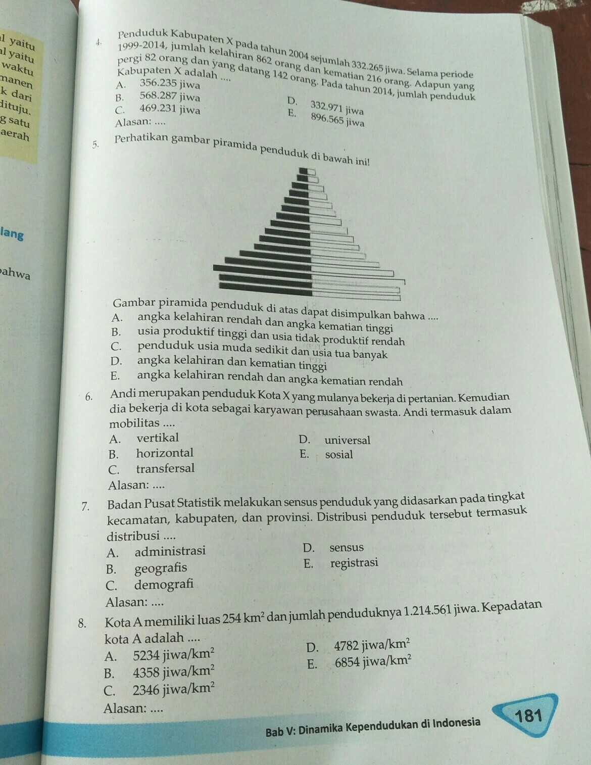 Tolong Jawab Soal Nomor 4 Sampe 8 Beserta Alasannya Kenapa Brainly Co Id