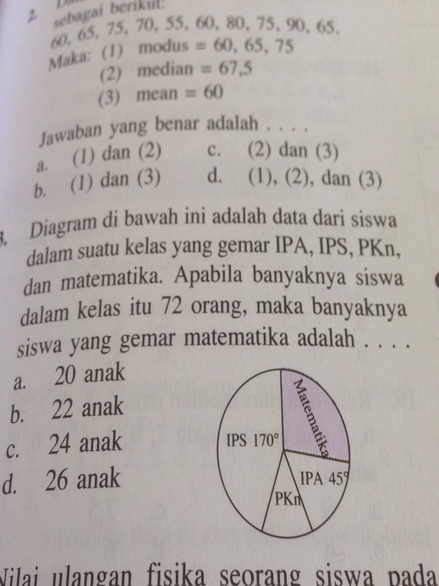 Soal statistika smp ttg diagram lingkaran brainly soal statistika smp ttg diagram lingkaran ccuart Image collections