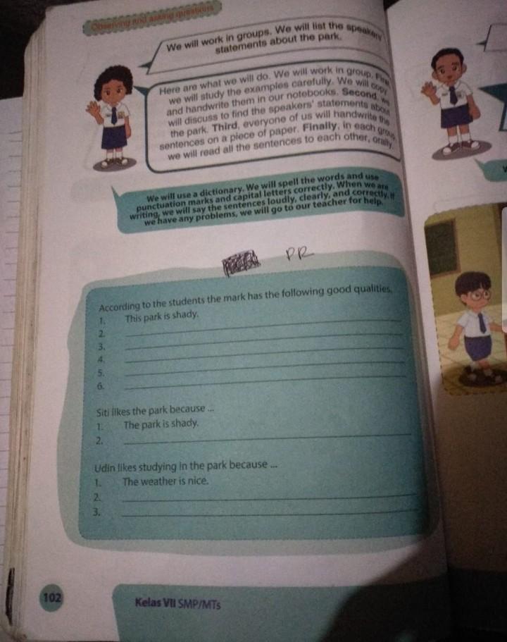Tolong Jawab Bahasa Inggris Kelas 7 Ual 102 Brainly Co Id