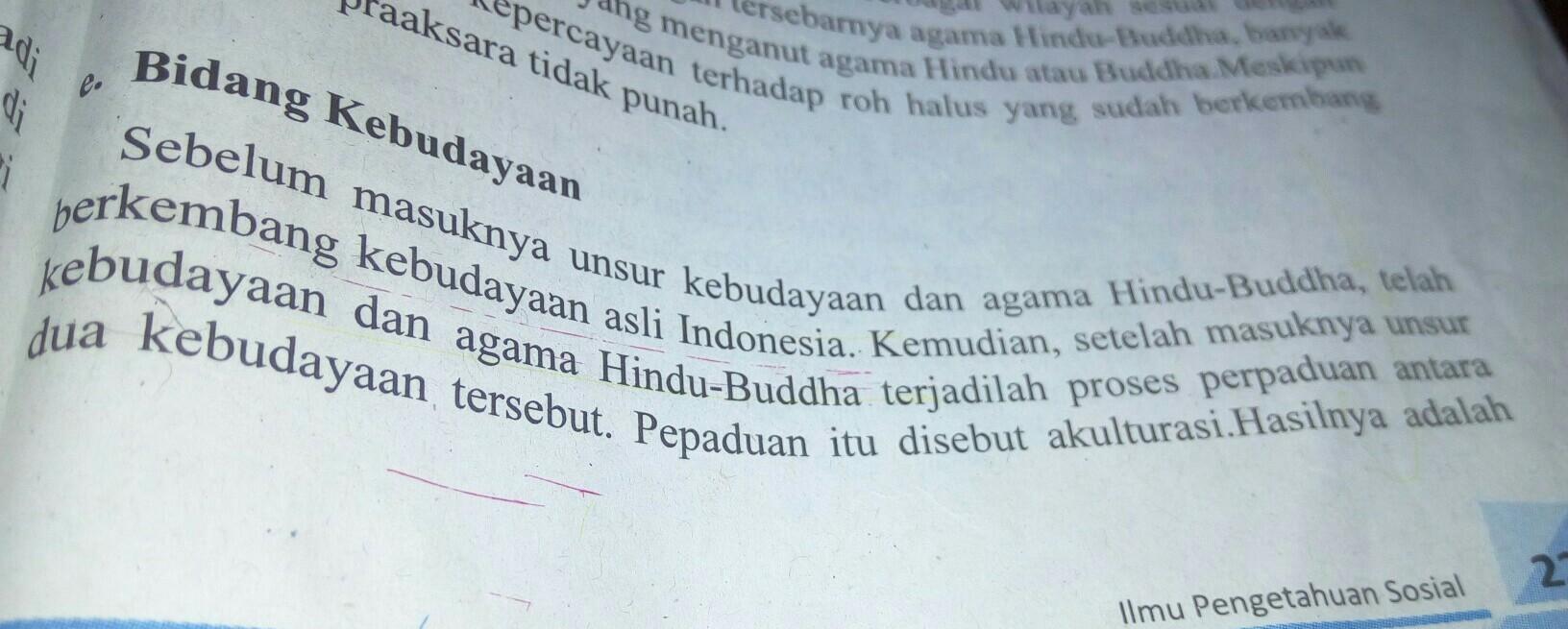 Berikan Contoh Pengaruh Kebudayaan Hindu Budha Dalam Sastra Di